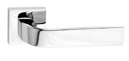 Frascio 630/50Q/PCP Eidos Door Handle On Square Rose Polished Chrome